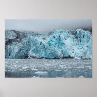 Poster da geleira de derretimento  