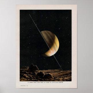 Poster da imagem do espaço do vintage
