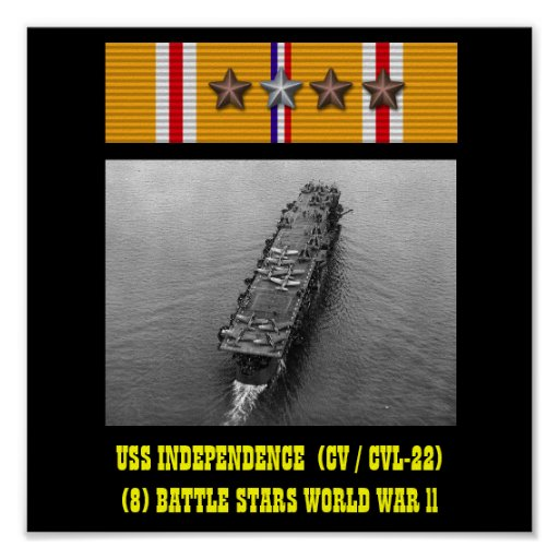 POSTER DA INDEPENDÊNCIA DE USS (CV/CVL-22)