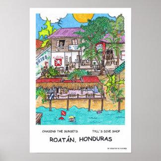 Poster da loja do mergulho de Tyll Pôster