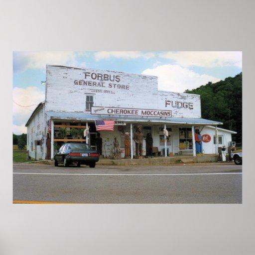 Poster da loja geral de Forbus