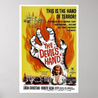 """""""Poster da mão do diabo"""" Pôster"""
