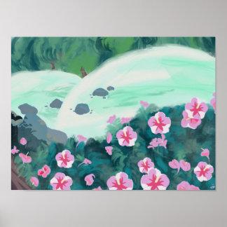 Poster da paisagem da flor