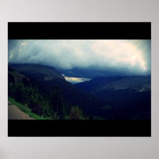 Poster da paisagem da montanha