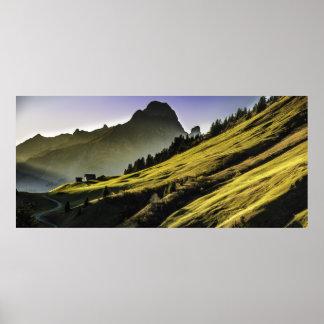Poster da paisagem das montanhas