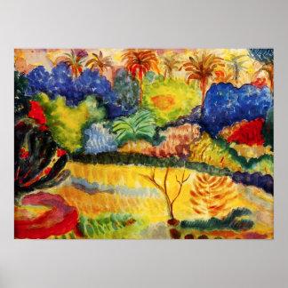 Poster da paisagem de Gauguin Tahitian