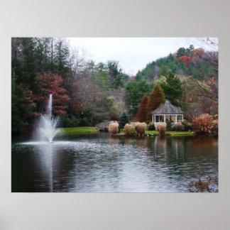 Poster da paisagem do outono pôster