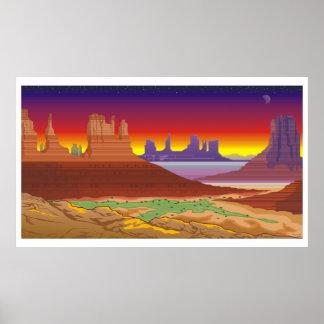Poster da paisagem do sudoeste