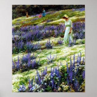Poster da paisagem do vintage