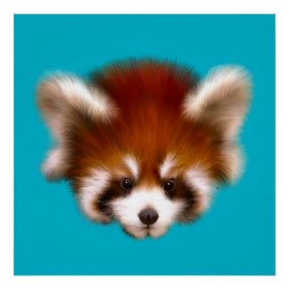 Poster da panda vermelha do bebê