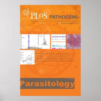 Poster da parasitologia do micróbio patogénico de