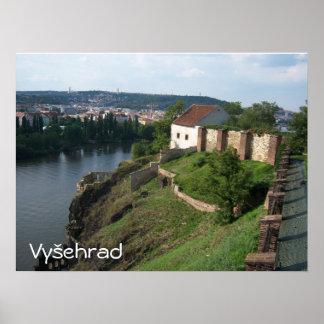 Poster da parede da citadela de Vysehrad