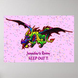 Poster da porta do quarto do dragão de vôo