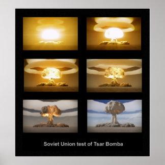Poster da prova nuclear de Bomba do Tsar de URSS
