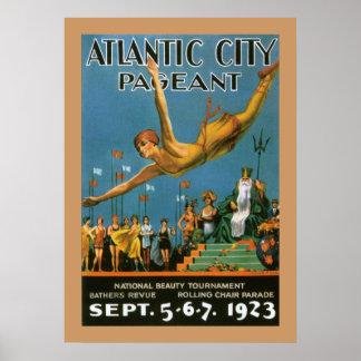 Poster da representação histórica de Atlantic City