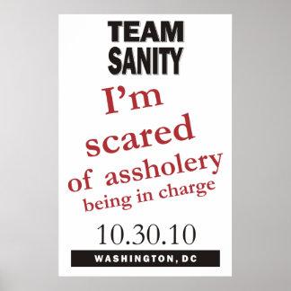 Poster da sanidade da equipe
