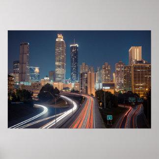 Poster da skyline de Atlanta