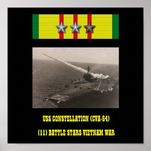 POSTER DA USS CONSTELLATION (CVA-64)