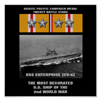 POSTER DA USS ENTERPRISE (CV-6)