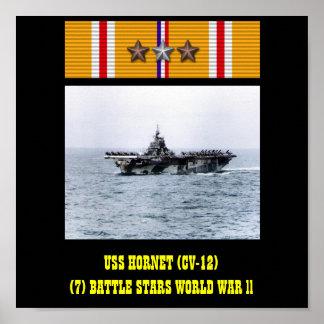 POSTER DA USS HORNET (CV-12)