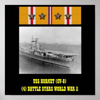 POSTER DA USS HORNET (CV-8)