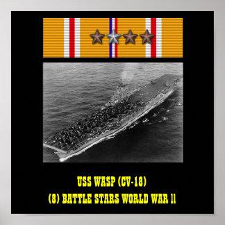POSTER DA VESPA DE USS (CV-18)