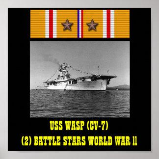 POSTER DA VESPA DE USS (CV-7)