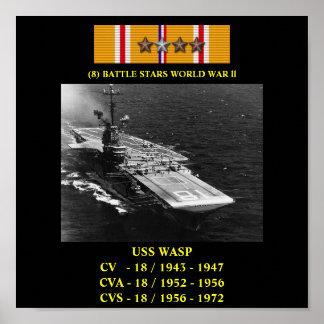POSTER DA VESPA DE USS CV CVA CVS-18