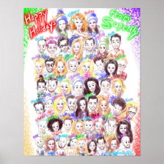 Poster das caricaturas do feriado