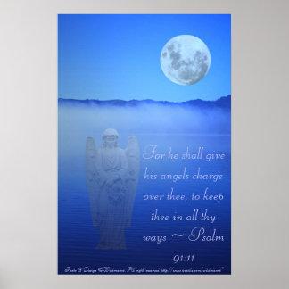 Poster das citações da bíblia do anjo