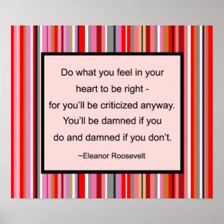 Poster das citações de Eleanor Roosevelt