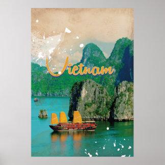 Poster das férias do vintage de Vietnam