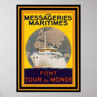 Poster das viagens vintage