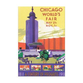 Poster das viagens vintage da feira de mundo de