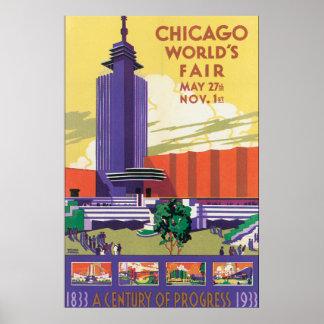 Poster das viagens vintage da feira de mundo de pôster