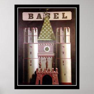 Poster das viagens vintage da suiça de Basileia