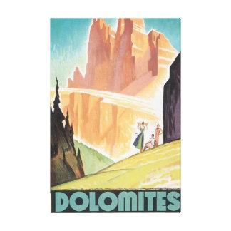 Poster das viagens vintage das dolomites