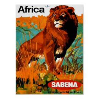 Poster das viagens vintage de África