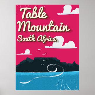Poster das viagens vintage de África do Sul da