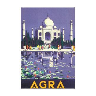 Poster das viagens vintage de Agra