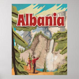 Poster das viagens vintage de Albânia