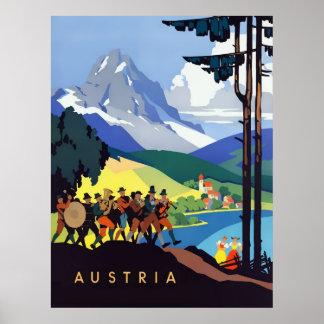 Poster das viagens vintage de Áustria