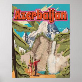 Poster das viagens vintage de Azerbaijan