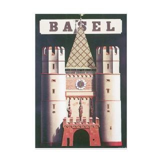 Poster das viagens vintage de Basileia