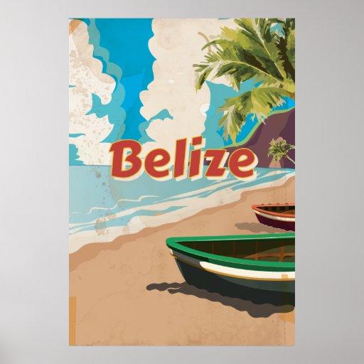 Poster das viagens vintage de Belize