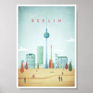 Poster das viagens vintage de Berlim