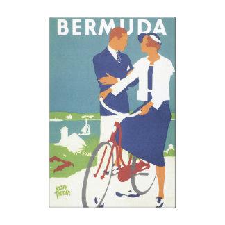 Poster das viagens vintage de Bermuda