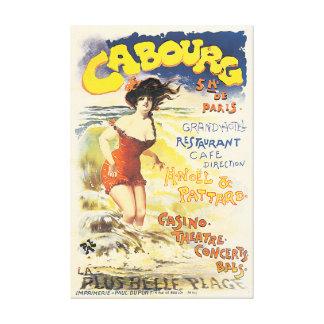 Poster das viagens vintage de Cabourg