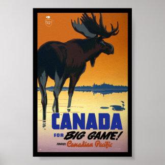Poster das viagens vintage de Canadá Pôster
