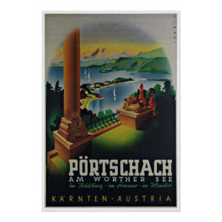 Poster das viagens vintage de Carinthia Karnten